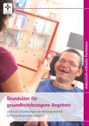 Grundsätze für gesundheitsbezogene Angebote - Stiftung ...