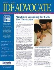 Newborn Screening for SCID - Immune Deficiency Foundation