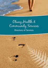 Otway Health & Community Services - South West Alliance of Rural ...