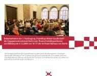 """Dokumentation der 1. Fachtagung """"Freiwillige bilden Gesellschaft ..."""