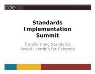 Standards Implementation Summit - ASCD