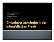 Chronische Leukämien in der internistischen Praxis - Vereinigung ...
