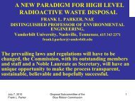a new paradigm for high level radioactive waste disposal