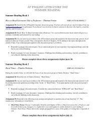 ap english literature 2012 summer reading - Junipero Serra High ...