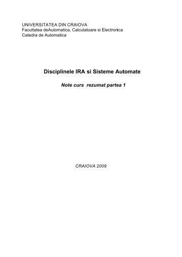 Lectii curs IRA SA rezumat 1.pdf - Catedra de Automatica Craiova