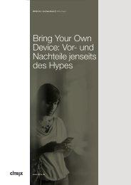Bring Your Own Device: Vor- und Nachteile jenseits des Hypes