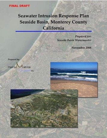 indicators of seawater intrusion - Seasidebasinwatermaster.org