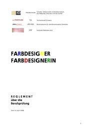 Prüfungsreglement BP Farbdesigner - Textilverband Schweiz