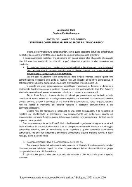 Strutture complementari per lo sport e il tempo libero - Europroject