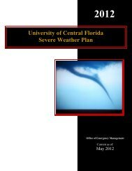 University of Central Florida Severe Weather Plan - UCF Facilities ...