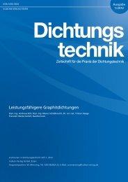 Leistungsfähigere Graphitdichtungen - Frenzelit Werke GmbH