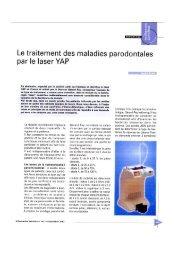 Le traitement des maladies parodontales - Rident