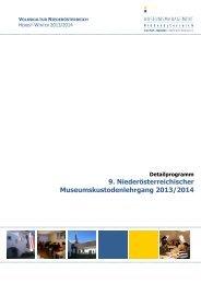 Detailprogramm 2013-2014 - Museen & Sammlungen