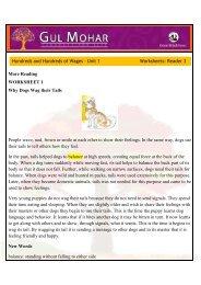 More Reading Worksheet 1 The Muddle head from Petushkee 1  I