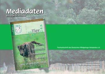 Mediadaten - Deutscher-Wildgehege-Verband eV