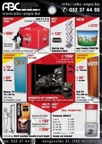 € 1699* - ABC Expo