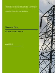 Copy of Business Plan - Reliance Infrastructure