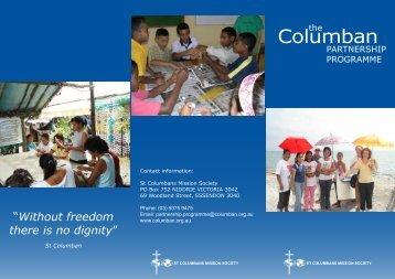 Download Partnership Programme Brochure (pdf) - St Columbans ...
