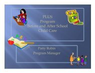 PLUS Program Before and After School Child Care - Etiwanda ...