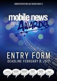 DeaDline february 8, 2012 - Mobile News Awards 2013