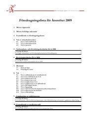 Föredragningslista för Årsmötet 2009 - Rekryteringsgruppen