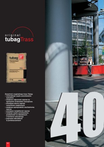 TUBAG systemy renowacji - Quick-Mix