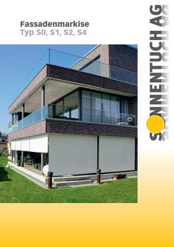 Fassadenmarkise Typ S0, S1, S2, S4 - Sonnentuch AG