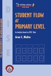 Student Flow at Primary Level - DISE