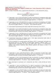Legge regionale 27 dicembre 2012, n. 71 ... - Regione Calabria