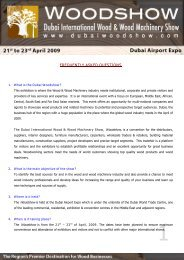 FREQUENTLY ASKED QUESTIONS - Dubai Woodshow