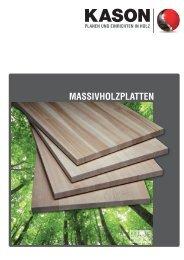 KASON Prospekt Massivholzplatten 2012 (PDF, ca. 2,7 MB)