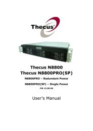 Thecus N8800 Thecus N8800PRO(SP) User's Manual