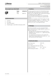 3.Technische Daten 2. Montage 1. Funktion ... - Eibmarkt.com