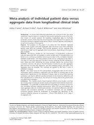 Meta-analysis of individual patient data versus aggregate data from ...