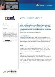 Kundenreferenz Renet Autoteile Netzwerk GmbH - Prisma Informatik