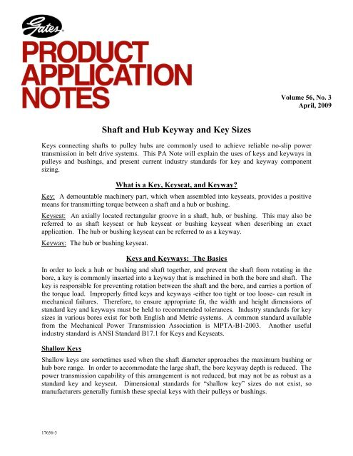Download Shaft And Hub Keyway And Key Sizes