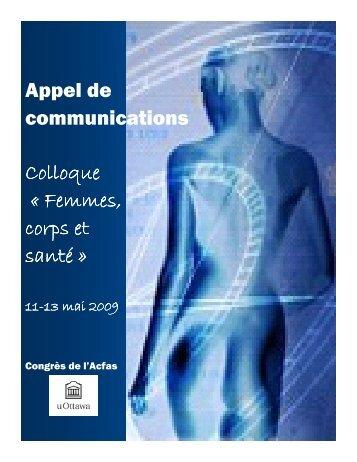 Congrès de l'Acfas 2009 - Institut de recherches et d'études ...