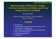 Measurements of EAS muon energy – the key to solution of primary ...