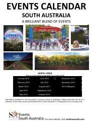 EVENTS CALENDAR - South Australia