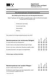 SPD Beurteilungsbogen Kindergarten
