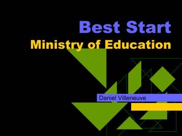 Best Start Ministry of Education