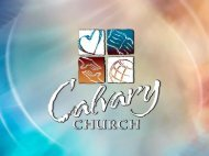 Psalm 78 - Calvary Church