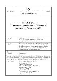 STATUT Univerzity Palackého v Olomouci ze dne 21. července 2006