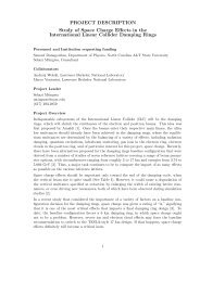 Study of Space Charge Effects in the International Linear Collider ...