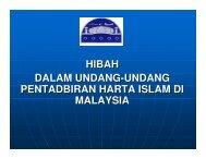 HIBAH DALAM UNDANG-UNDANG PENTADBIRAN HARTA ISLAM ...