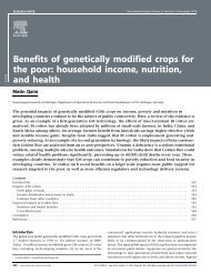 Benefits of genetically modified crops for the poor - entsteht die ...