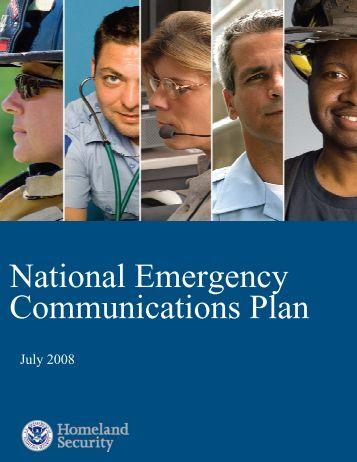 The National Emergency Communications Plan - Homeland ...