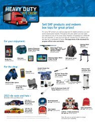 Sell SKF products and redeem box tops for great prizes! - SKF.com