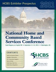 the 2011 hcbs exhibitor prospectus - National Association of States ...