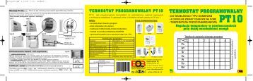 termostat programowalny pt10 - Systema